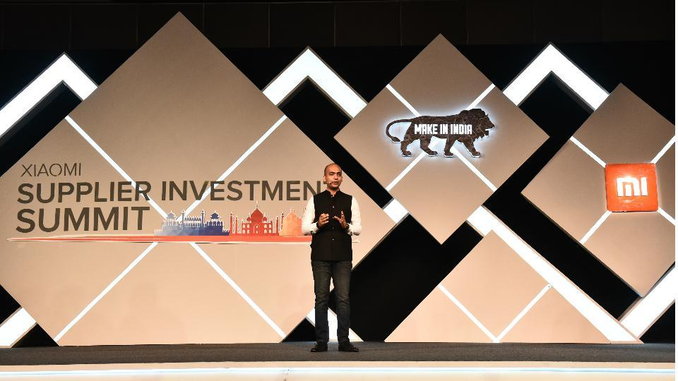 Manu Jain, Xiaomi's global VP at the company's 'Supplier Investment Summit'.