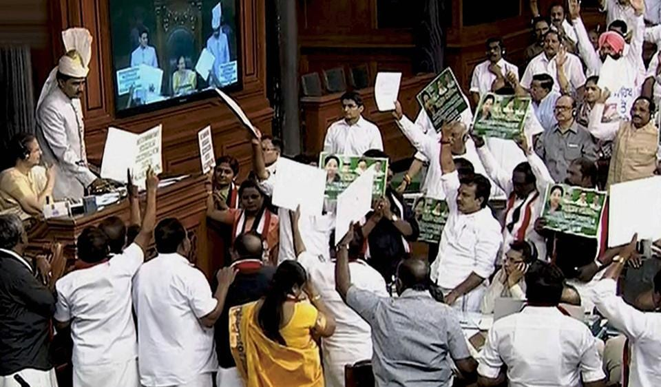 AIADMK members have created ruckus in Parliament all through the recently-concluded Budget session over creation of Cauvery Water Management Board.