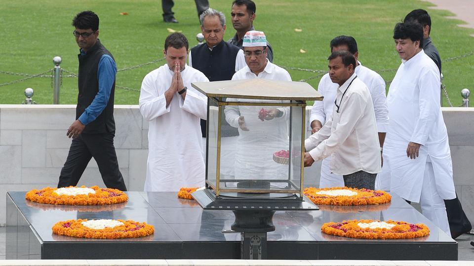 Rahul Gandhi fast,Congress protest,Raj Ghat