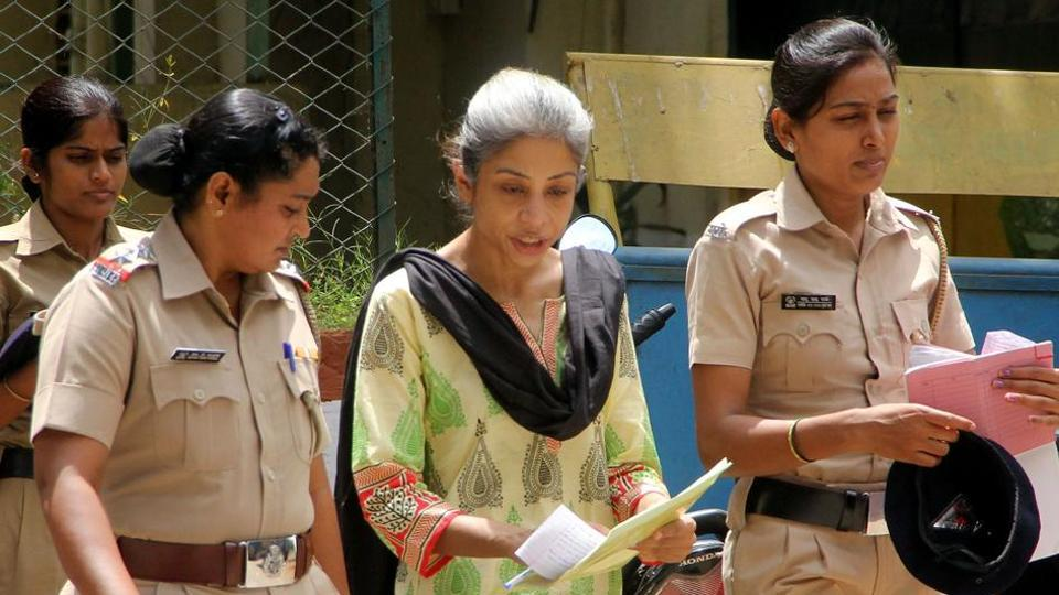 Indrani Mukerjea, accused in Sheena Bora murder case being taken to sessions court, in Mumbai.
