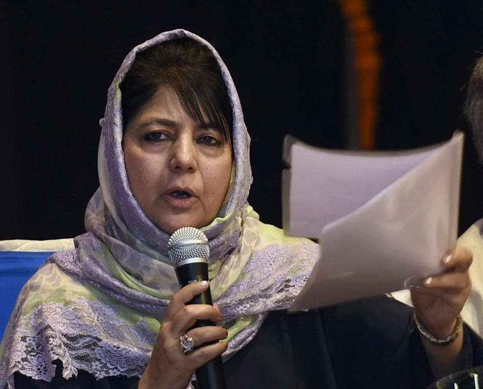 Mehbooba reportedly sought more frequent meetings at the highest levels between India and Pakistan.