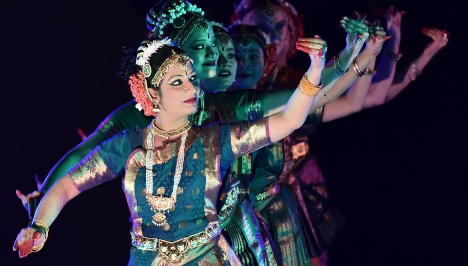 Artistes perform Kuchipudi during last year's Gurgaon Utsav.