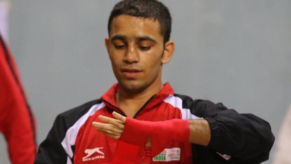 Amit Panghal beat Aqeel Ahmed of Scotland in the quarter-finals of the men's light flyweight (49 kilogram) category.  (Twitter)