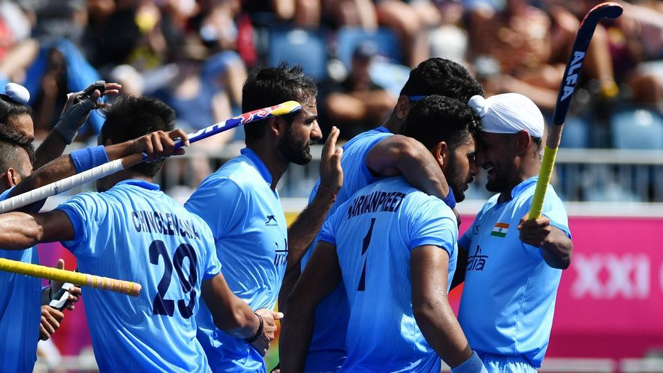 Indian men's hockey team beat Malaysia 2-1 to enter the semi-finals of the men's hockey event.  (AFP)