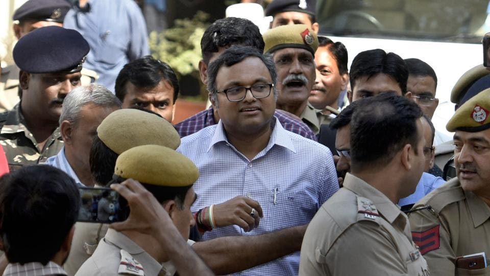 The Delhi high Court on Tuesday issued notice to the chartered accountant of Congress leader P Chidambaram's son Karti Chidambaram on an Enforcement Directorate plea seeking cancellation of his bail in the INX media money laundering case. (Sushil Kumar / HT File)