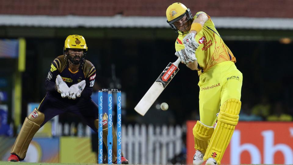 Sam Billings in action during match five of the Indian Premier League 2018 (IPL 2018) between Chennai Super Kings and Kolkata Knight Riders at the M. A. Chidambaram Stadium in Chennai. Get live cricket score of Chennai Super Kings vs Kolkata Knight Riders, IPL 2018 match here.