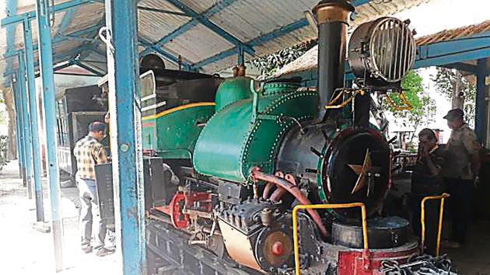 The heritage steam engine that will be run.