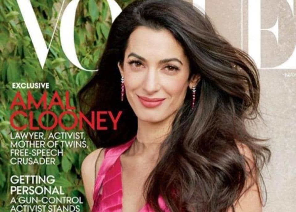 Amal Clooney is the May cover star for Vogue magazine.
