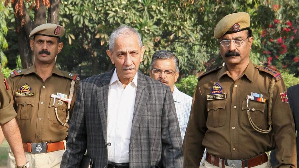 Centre's special representative for Kashmir Dineshwar Sharma on his way for a meeting with various delegations in Jammu.