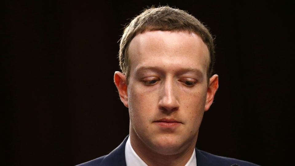 Facebook CEO Mark Zuckerberg listens while testifying before a joint Senate Judiciary and Commerce Committees hearing regarding the company's use and protection of user data, on Capitol Hill in Washington, US, April 10, 2018.