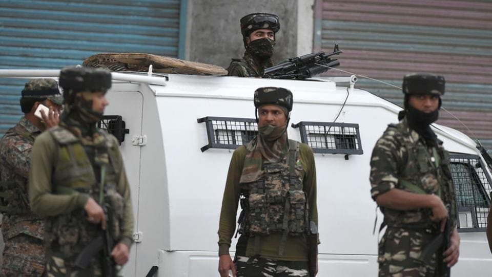 Two civilians and an Army jawan were killed and two security personnel injured, during an encounter with militants in south Kashmir's Kulgam district, on Wednesday. (Tauseef Mustafa / AFP File)