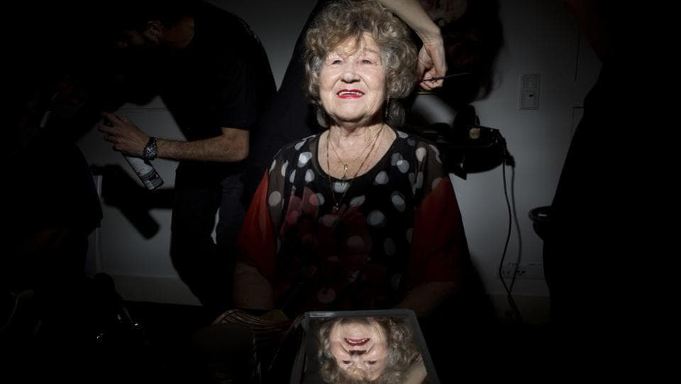 Holocaust survivor Shoshana Reshef, 82, gets her hair done during a Beauty Heroines event in Ramat Gan, Israel. Seventy Holocaust survivors to represent the country's 70th anniversary and the annual holocaust remembrance day, enjoyed pampering makeovers in a beauty event titled Beauty Heroines. (Oded Balilty / AP)