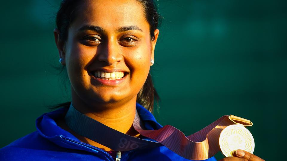 Shreyasi aggregated 96 in the women's double trap finals, same as Emma Cox, but prevailed over the Australian in a shoot-off by striking down both birds. (AFP)