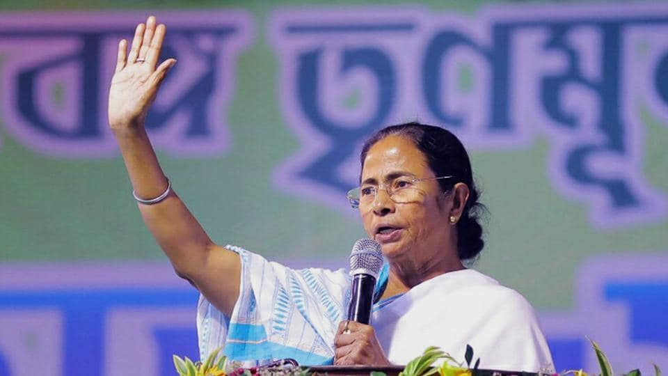 West Bengal Chief Minister Mamata Banerjee during a party rally. Ms Banerjee has her political compulsions. She has to protect her turf against the saffron onslaught