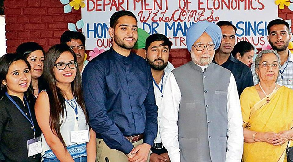 Panjab University,Manmohan Singh,department of economics