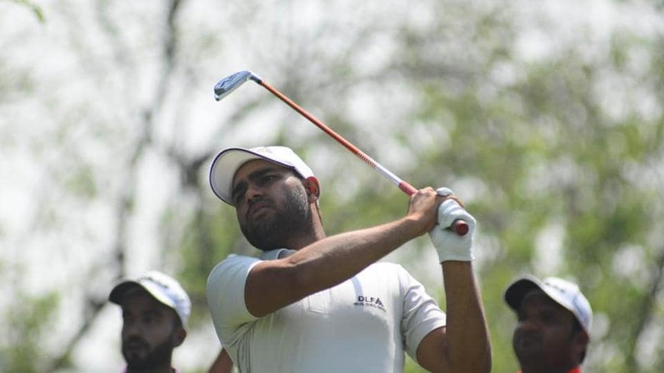 Honey Baisoya in action on day three of the PGT's Pune Open at the Poona Golf Course on April 12.