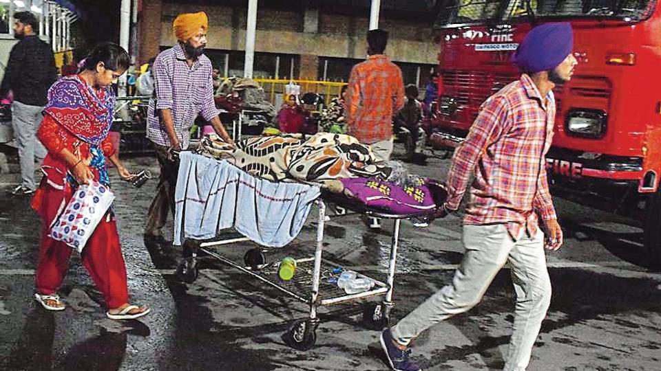 Chandigarh,hospital fire,patients evacuated