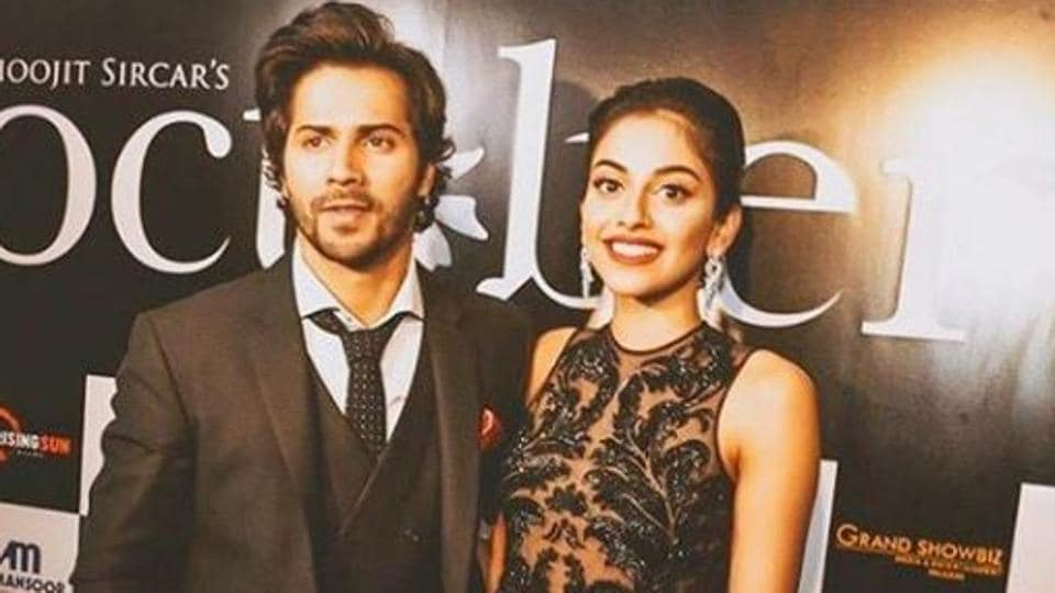 October starring Varun Dhawan and Banita Sandhu had its premier in Dubai on Wednesday night.