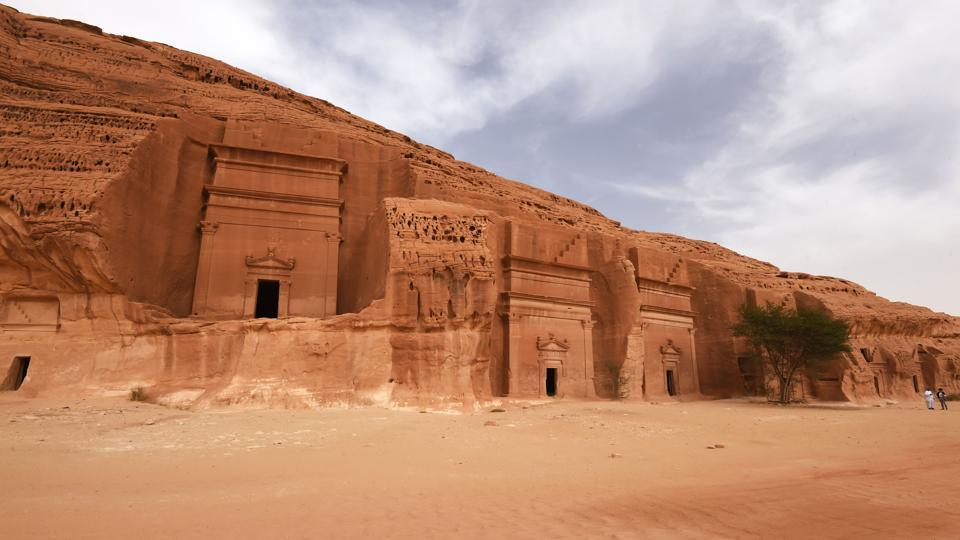 "Archaeologists last year used Google Maps to find hundreds of stone ""gates"" built from rock in a remote Saudi desert, which may date back as far as 7,000 years. They also discovered evidence of lakes believed to have existed in the Nefud desert, which experts say lends credence to the theory that the region swung between desertification and wetter climate. (Fayez Nureldine / AFP)"