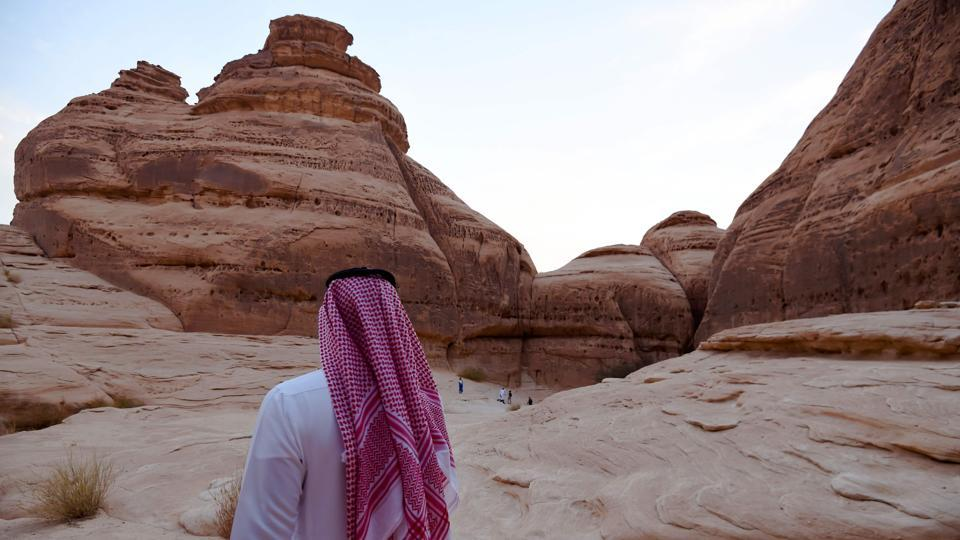 "Tourism is one of the centrepieces of preparing the biggest Arab economy for the post-oil era. But the project is also about reviving the glory of Saudi Arabia's ancient past. There is currently scant information in Saudi history textbooks about Al-Ula. ""This is about national pride in our own past,"" Anazi said. (Fayez Nureldine / AFP)"