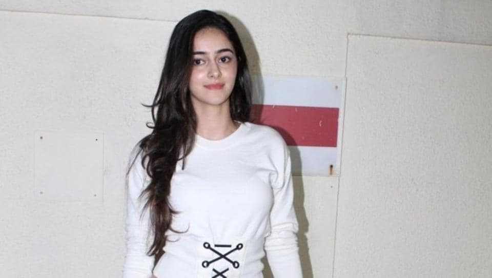 Actor Chunky Panday's daughter Ananya during the special screening of film Judwaa 2 in Mumbai in September 2017. (IANS File Photo)