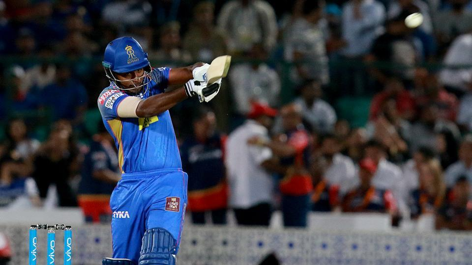 Sanju Samson took charge and hit a crucial 37 for Rajasthan. (IPL)