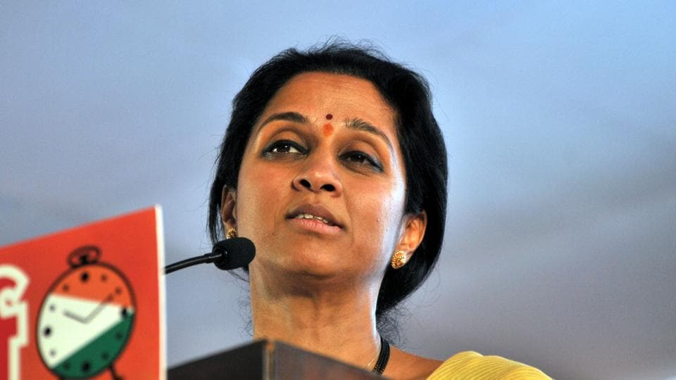 Supriya Sule during NCP's Halla Bol rally at Waraje in Pune asked party workers to work hard to see Ajit Pawar as the next chief minister of Maharashtra apart from hitting out at the chief minister for controversial textbook content.