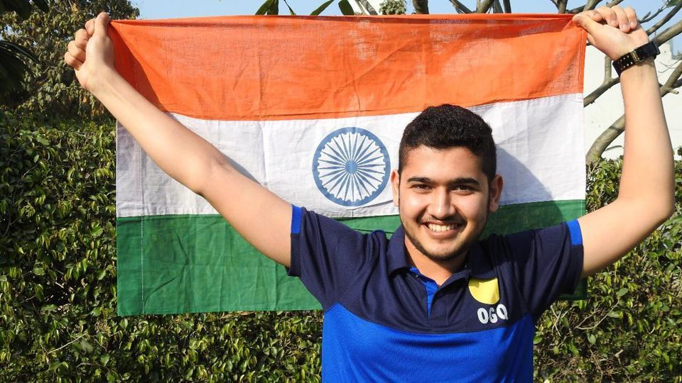Anish Bhanwala won gold in the men's 25m rapid fire pistol final event at the 2018 Commonwealth Games in Gold Coast.