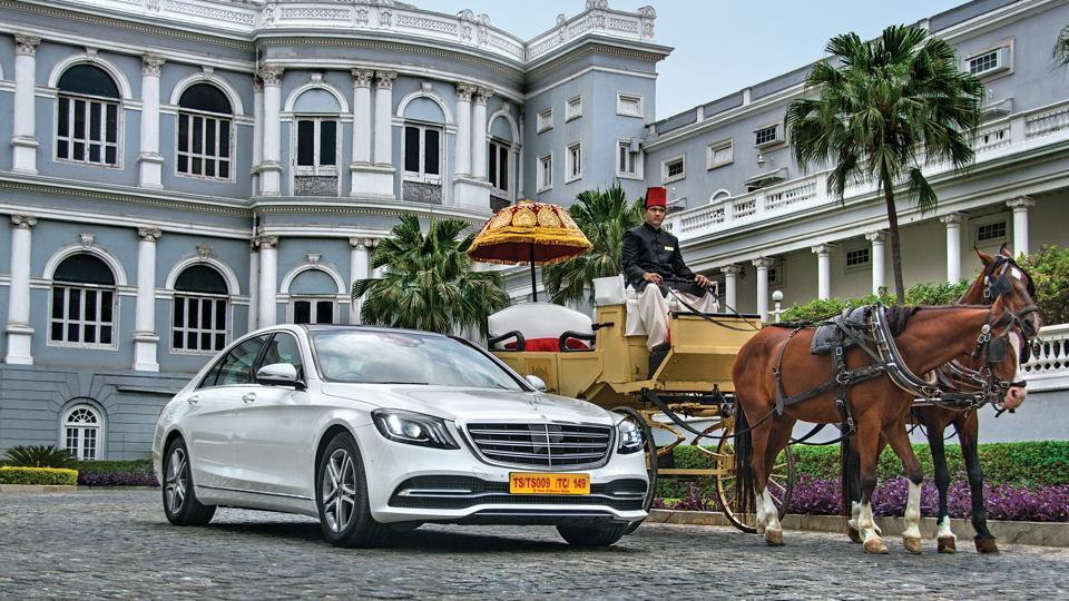Mercedes-Benz S450 review: The facelift of the S450 - with revised headlamps, tail-lamps, grille, bumpers and wheels -- give the car a slightly more aggressive and imposing look.