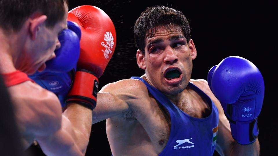 Mohammed Hussamuddin has lost his men's 56 kg semi-final and has to settle for a bronze medal (AFP)