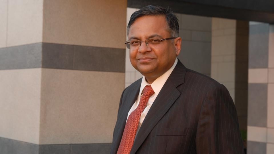 N. Chandrasekaran, Tata Group chairman, photographed at his office in Mumbai.