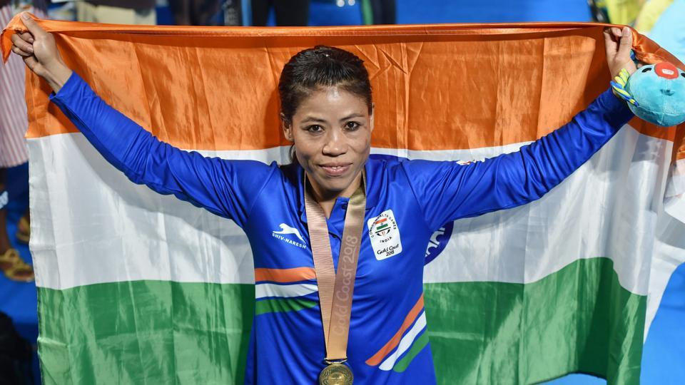 Mary Kom won gold in women's 48 kg final against Kristina O'Hara of Northern Ireland, securing her first gold ever in the Commonwealth Games as India enjoyed a great day. (PTI)