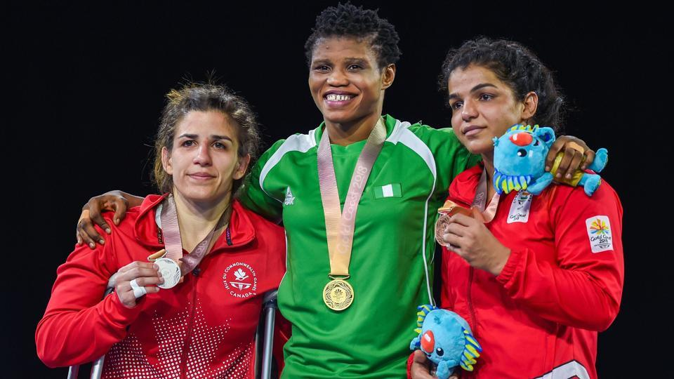 Indian wrestler Sakshi Malik settled for a bronze in the women's freestyle 62 kg at 2018 Commonwealth Games (PTI)