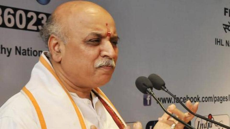 VHP chief Praveen Togadia is known for inflammatory speeches on issues such as cow slaughter and interfaith marriages.