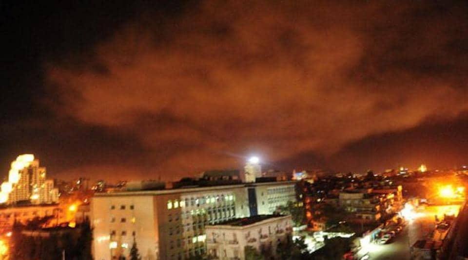 Syria air strikes,US air strikes,Damascus