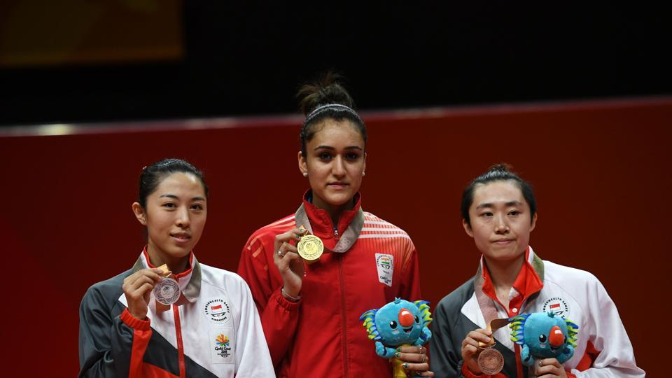 Manika Batra won the first ever women's singles table tennis gold for India at the Commonwealth Games, blanking Yu Mengyu of Singapore 4-0 in the final. Earlier, Batra showed that her crucial victory against world no.4 Feng Tianwei in the team final was no fluke as the Indian edged out the Singaporean 4-3 in the women's singles semi-finals.  (AFP)