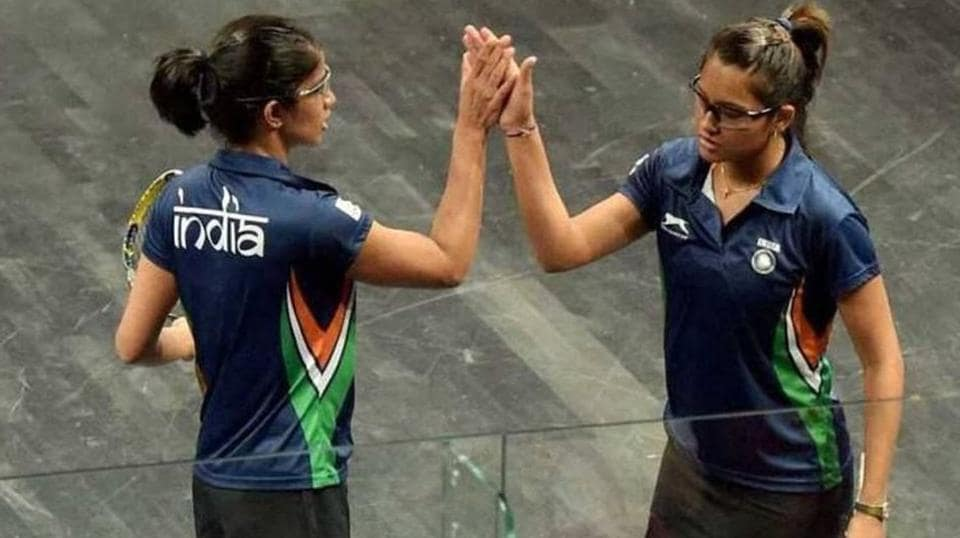 India's Joshna Chinappa and Dipika Pallikal also got a silver medal in the women's doubles squash event.  (Twitter)