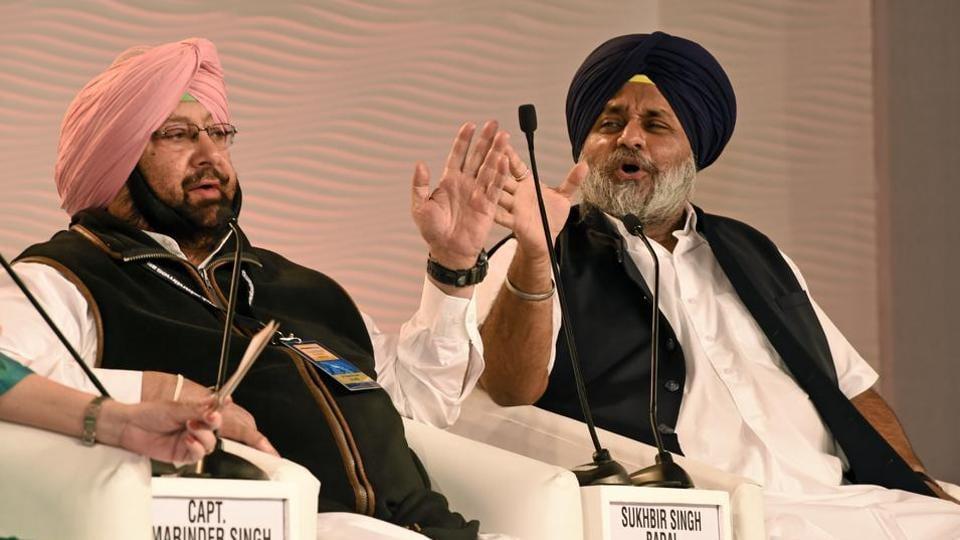 Punjab chief minister Amarinder Singh and Shiromani Akali Dal president Sukhbir Singh Badal.