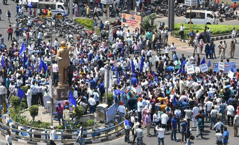 Cop suspended,MP cop suspended,Dalit protests