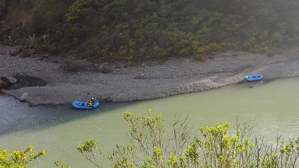 In this Thursday, April 12, 2018, file photo released by The Mendocino County Sheriff's Office shows a search underway along the Eel River in Northern California. The body was found on Friday on an exposed terrain.