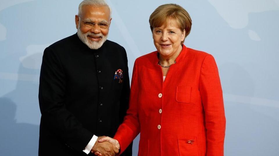 Narendra Modi,Angela Merkel,Modi-Merkel meet