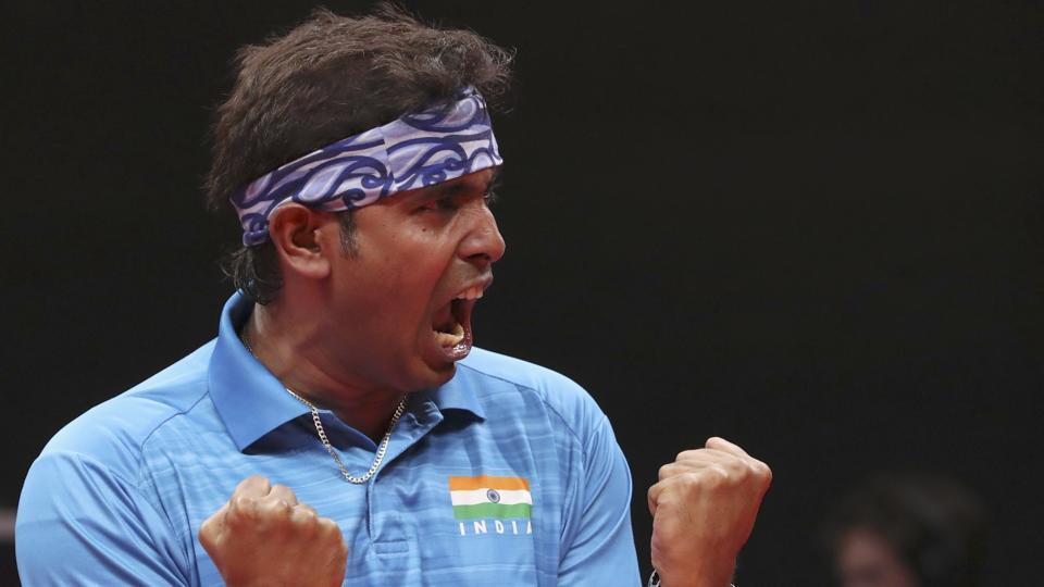 Sharath Kamal won bronze in the men's singles table tennis event.  (REUTERS)