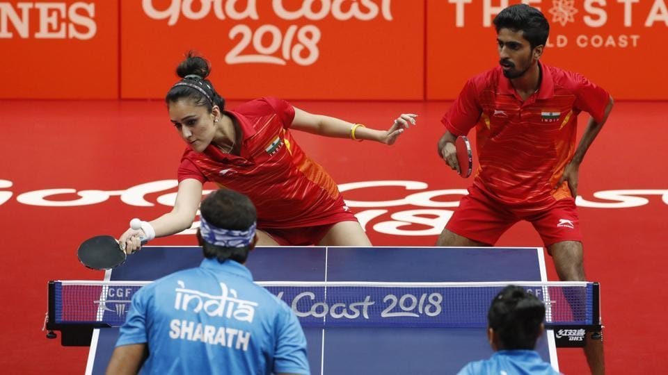 G Sathiyan and Manika Batra won bronze in the mixed doubles, beating Mouma Das and Sharath Kamal.  (REUTERS)
