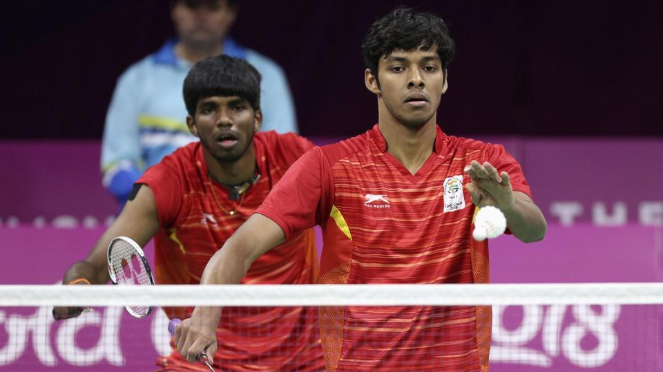 Satwik Rankireddy and Chirag Chandrashekhar Shetty settled for silver in the men's doubles final badminton event.  (REUTERS)