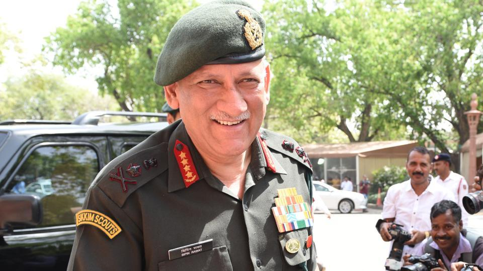 Army Chief General Bipin Rawat at Parliament House in New Delhi on March 27, 2018.