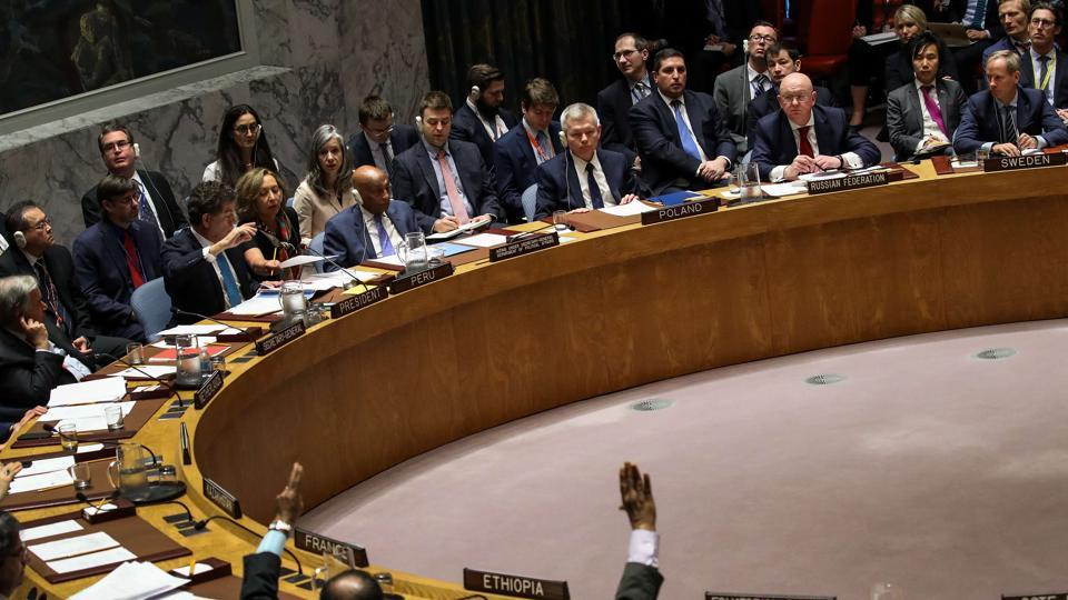 The UN security council holds a vote on Russian proposed draft resolution on Saturday.