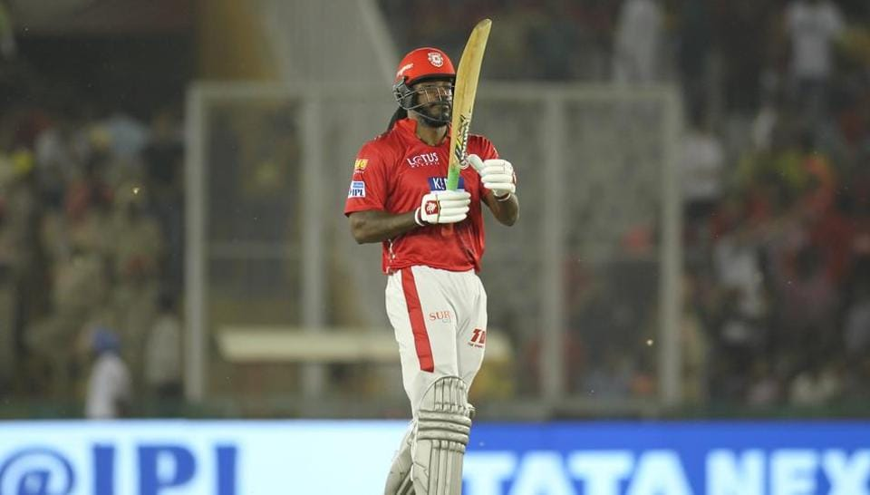 Chris Gayle blasted 63 on his debut with Kings XIPunjab as Ravichandran Ashwin's side defeated Chennai Super Kings by four runs in the 2018 Indian Premier League. (BCCI)