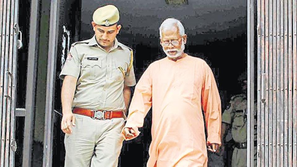 Swami Aseemanand, one of the 10 people accused in the Mecca Masjid blast case.