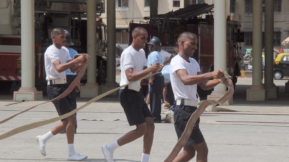 Firemen at the existing centre at Wadala.