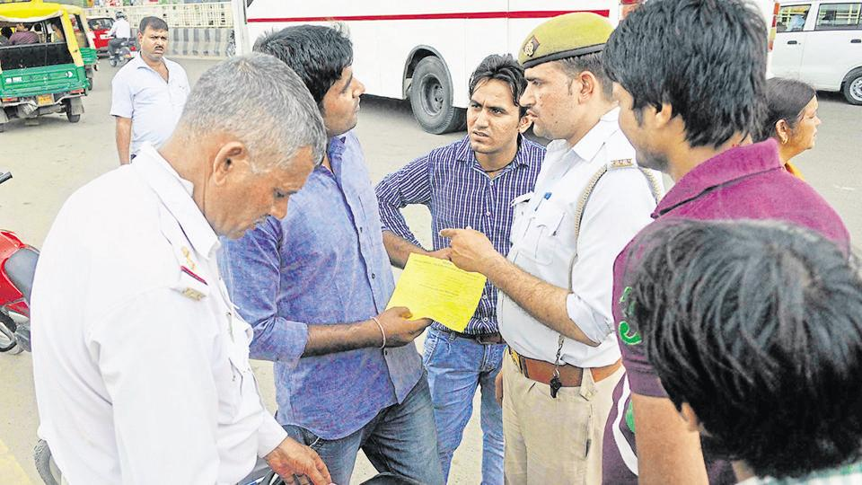 Police regularly conduct checking drives in Noida
